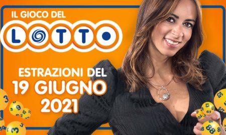 Estrazione lotto 19 giugno 2021 Lotto oggi estrazione vincente superenalotto oggi 10elotto serale simbolotto numeri vincenti ufficiali verifica vincite conduce Serena Garitta in diretta