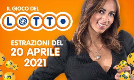 Estrazione lotto 20 aprile 2021 Lotto oggi estrazione vincente superenalotto oggi 10elotto serale simbolotto numeri vincenti ufficiali verifica vincite martedì conduce Serena Garitta