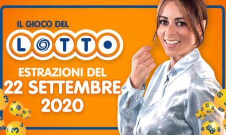 Estrazione lotto 22 settembre 2020 il gioco del lotto in diretta Estrazione del Lotto Simbolotto 10 e Lotto EXTRA conduce Serena Garitta