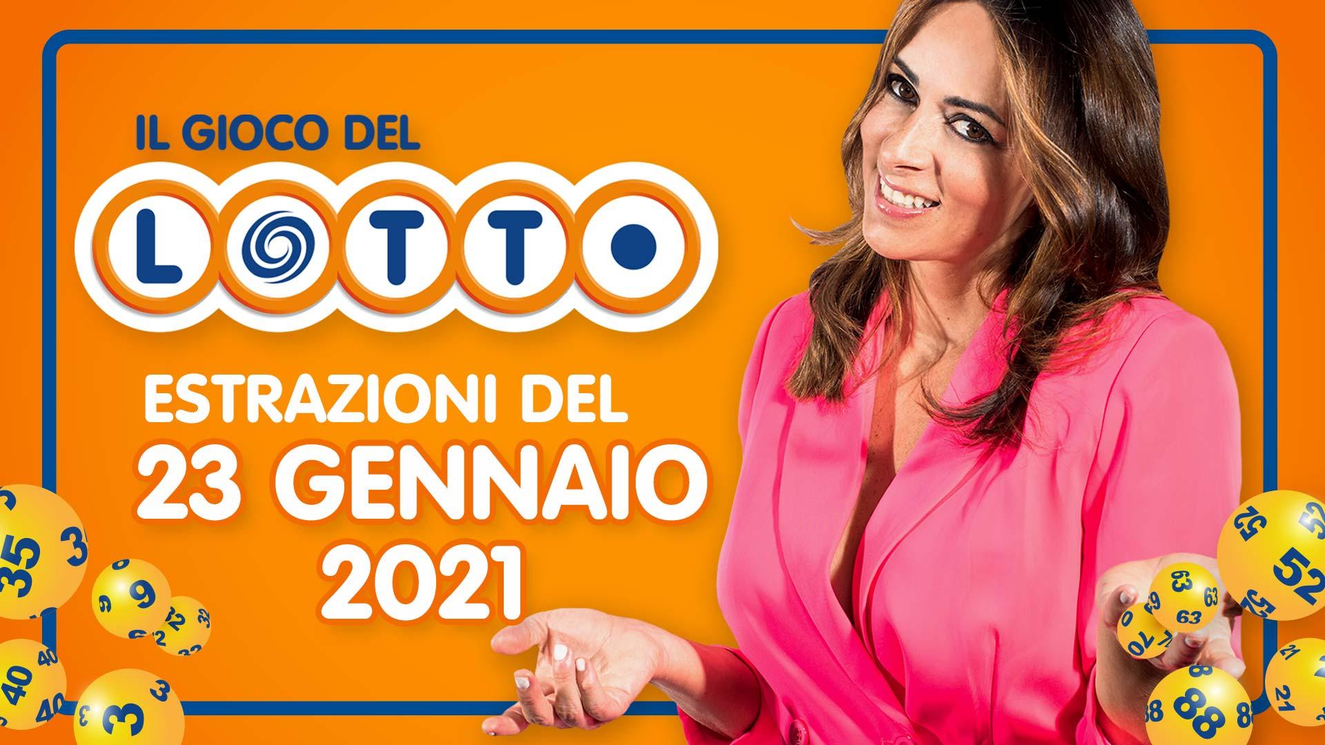Estrazione lotto 23 gennaio: Superenalotto 10eLotto ...
