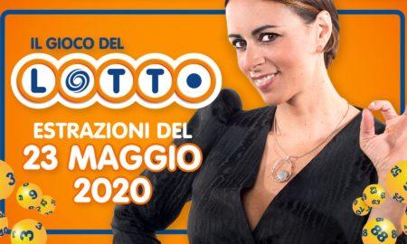 Estrazione del Lotto 23 maggio sabato 2020 Il Gioco del Lotto in diretta con Serena Garitta