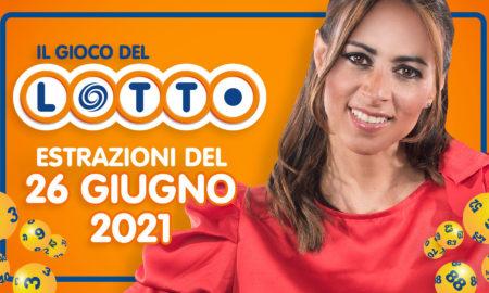 Estrazione lotto 26 giugno 2021 Lotto oggi estrazione vincente superenalotto oggi 10elotto serale simbolotto numeri vincenti ufficiali verifica vincite conduce Serena Garitta in diretta