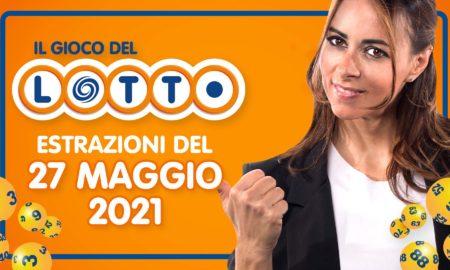 Estrazione lotto 27 maggio 2022 10 e lotto ogni 5 minuti oggi giovedì estrazione lotto in diretta superenalotto simbolotto million day numeri vincenti verifica vincite conduce Serena Garitta
