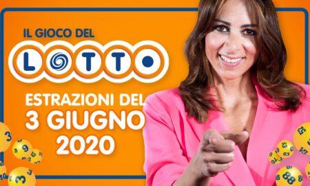 Estrazione Lotto 3 giugno 10 e lotto simbolotto mercoledì speciale 2020 estrazioni numeri e simboli vincenti in diretta
