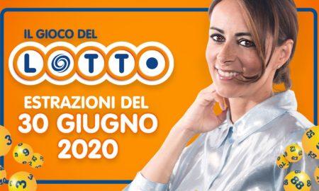 estrazione lotto 30 giugno 2020 10 e lotto oggi martedì ventina vincente numero oro doppio oro Il Lotto in diretta conduce Serena Garitta