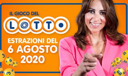 Estrazione lotto 6 agosto oggi giovedì 2020 estrazione lotto in diretta superenalotto 10 e lotto ogni 5 Simbolotto Million Day conduce Serena Garitta