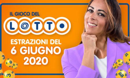 estrazione lotto 6 giugno 10 e lotto simbolotto superenalotto sabato 2020 numeri simboli vincenti