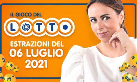 Estrazione lotto 6 luglio 2021 Lotto oggi estrazione vincente superenalotto oggi 10elotto serale simbolotto numeri vincenti ufficiali verifica vincite conduce Serena Garitta in diretta