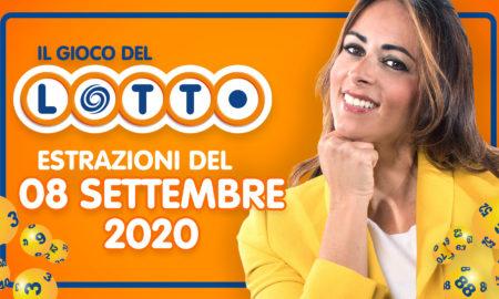 Estrazione lotto 8 settembre 2020 Estrazione del Lotto in diretta del martedì SuperEnalotto 10 e lotto ogni 5 minuti Simbolotto Million Day milionario numeri vincenti Conduce Serena Garitta