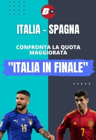 Pronostici calcio oggi pronostico Italia-Spagna quote maggiorate come avere la quota maggiorata di oggi passaggio turno Italia a quota 6 e quota plus 9