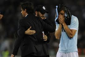 Lazio-Inter Simone Inzaghi e Stefan De Vrij