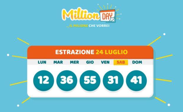 millionday oggi estrazione 24 luglio 2021 lottomatica milionday millionday estrazione di oggi sabato archivio Milion day