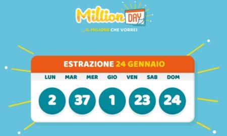 millionday oggi estrazione 24 gennaio 2021 lottomatica milionday millionday estrazione di oggi domenica archivio Milion day