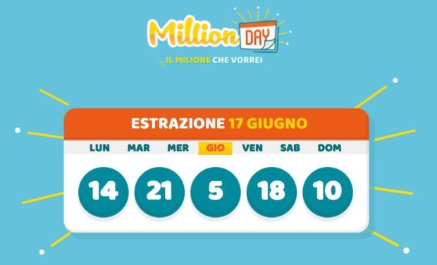 millionday oggi estrazione 17 giugno 2021 lottomatica milionday millionday estrazione di oggi giovedì archivio Milion day