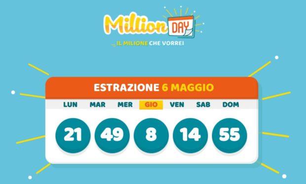 millionday oggi estrazione 6 maggio 2021 lottomatica milionday millionday estrazione di oggi giovedì archivio Milion day
