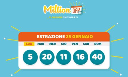 millionday oggi estrazione 25 gennaio 2021 lottomatica milionday millionday estrazione di oggi lunedì archivio Milion day