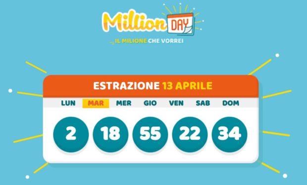 millionday oggi estrazione 13 aprile 2021 lottomatica milionday millionday estrazione di oggi martedì archivio Milion day