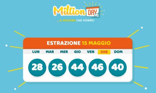 millionday oggi estrazione 15 maggio 2021 lottomatica milionday millionday estrazione di oggi sabato archivio Milion day