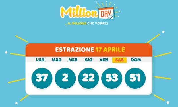 millionday oggi estrazione 17 aprile 2021 lottomatica milionday millionday estrazione di oggi sabato archivio Milion day