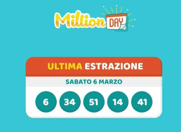 millionday oggi estrazione 6 marzo 2021 lottomatica milionday millionday estrazione di oggi sabato archivio Milion day
