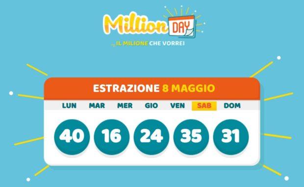 millionday oggi estrazione 8 maggio 2021 lottomatica milionday millionday estrazione di oggi sabato archivio Milion day