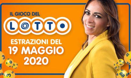 estrazione lotto 19 maggio 2020 numeri vincenti Lotto 10 e lotto 10elotto simbolotto million day millionday superenalotto super enalotto