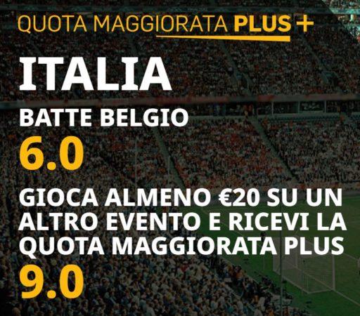 Quote Maggiorate Italia Belgio Uefa Nations League