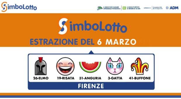 Simbolotto 6 marzo 2021 Lotto Simbolotto oggi estrazione simbolotto lotto ieri Simbolotto oggi estrazione oggi lotto oggi