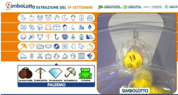 Simbolotto Lotto oggi Estrazione del Lotto in diretta di sabato 19 settembre 2020 numeri simboli cinquina vincente