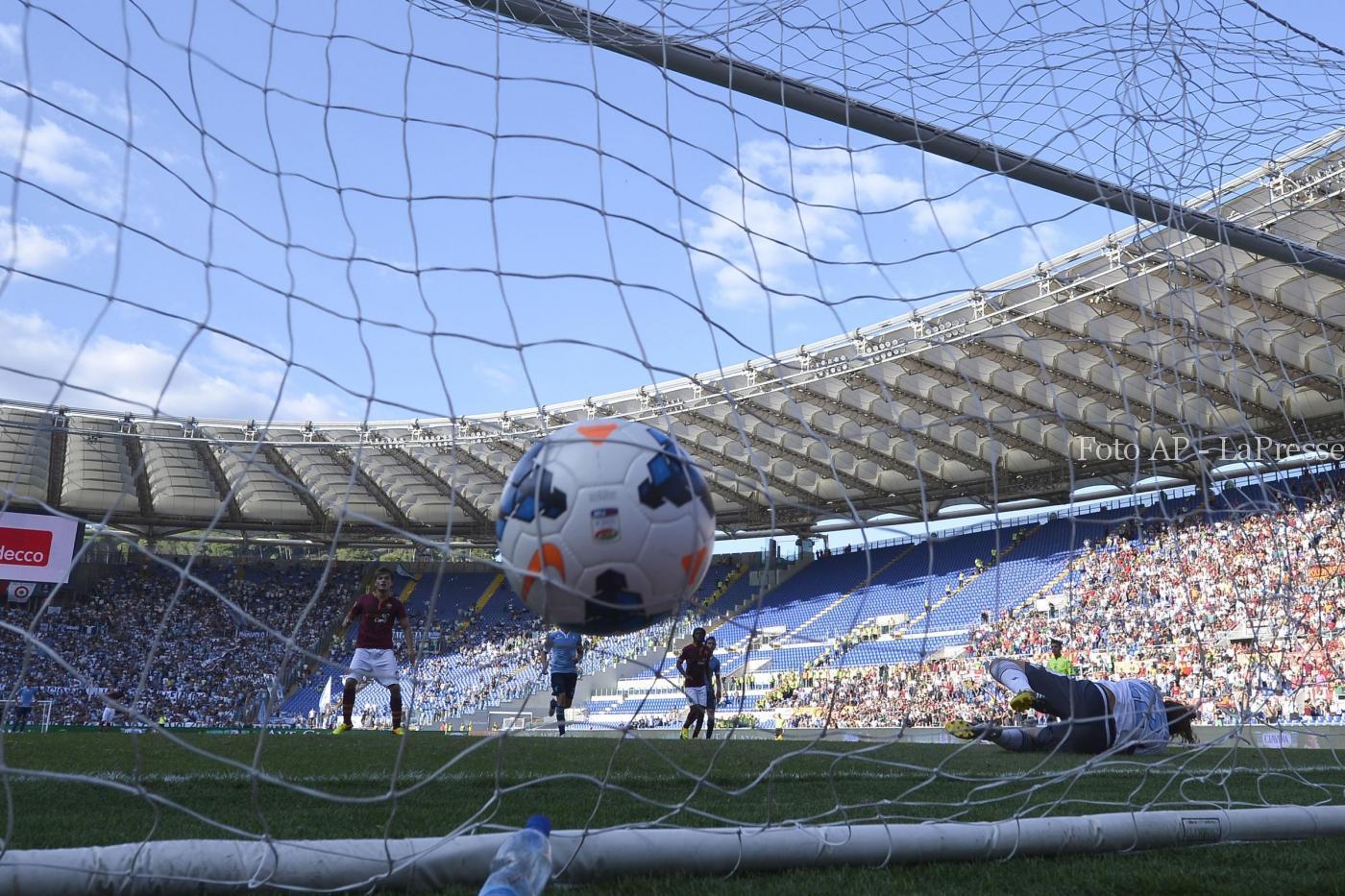 Rete derby Roma-Lazio