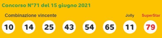 superenalotto lotto estrazioni lotto superenalotto 10 e lotto oggi numeri vincenti martedì 15 giugno 2021
