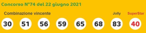 superenalotto lotto estrazioni lotto superenalotto 10 e lotto oggi numeri vincenti martedì 22 giugno 2021