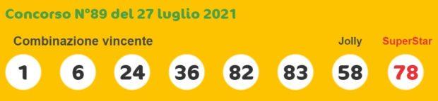 superenalotto lotto estrazioni lotto superenalotto 10 e lotto oggi numeri vincenti martedì 27 luglio 2021