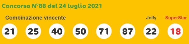 superenalotto lotto estrazioni lotto superenalotto 10 e lotto oggi numeri vincenti sabato 24 luglio 2021