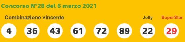 superenalotto lotto estrazioni lotto superenalotto 10 e lotto oggi numeri vincenti sabato 6 marzo 2021