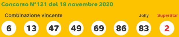 SuperEnalotto oggi estrazioni del super enalotto in diretta giovedì 19 novembre 2020 estrazione 6 5+1 quote jackpot Sisal numero Jolly SuperStar