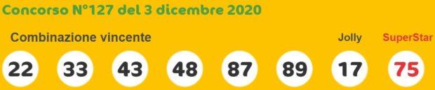 Quote Superenalotto oggi lotto Superenalotto in diretta numeri vincenti di giovedì 3 dicembre 2020