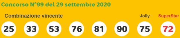 SuperEnalotto oggi Estrazione del Lotto e del Super Enalotto di martedì 29 settembre 2020 Estrazioni del Lotto in diretta 6 e 5+1 jackpot quote SuperEnalotto Sisal numero Jolly SuperStar