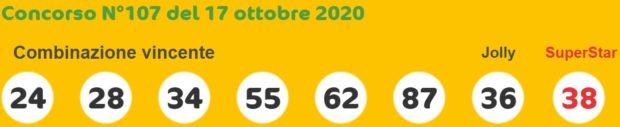 SuperEnalotto oggi sabato 6 e 5+1 sestina Super Enalotto quote e jackpot Sisal Estrazione del Lotto in diretta numero Jolly e SuperStar