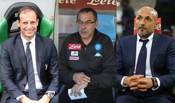 turno infrasettimanale pronostici quote allegri sarri spalletti Serie A Serie B martedì 24 mercoledì 25 ottobre 2017