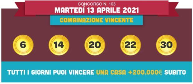 vincicasa estrazione vinci casa oggi estrazioni lotto superenalotto in diretta quote numeri vincenti di martedì 13 aprile 2021