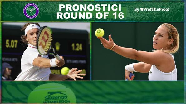 Tennis Wimbledon 2018 Ottavi di Finale
